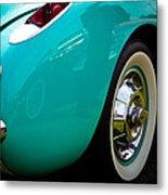 1956 Baby Blue Chevy Corvette Metal Print