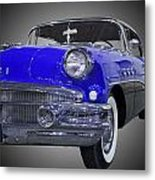 1956 Buick Special Riviera Coupe-blue Metal Print