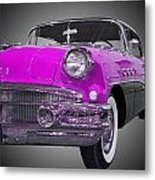 1956 Buick Special Riviera Coupe-purple Metal Print