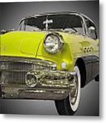 1956 Buick Special Riviera Coupe-yellow Metal Print