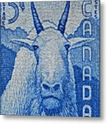 1956 Canada Mountain Goat Stamp Metal Print