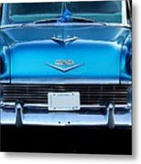 1956 Cheverolet In Blue Metal Print