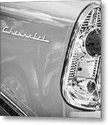 1956 Chevrolet 210 2-door Handyman Wagon Taillight Emblem -074bw Metal Print
