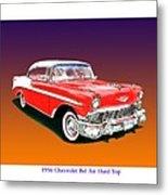 1956 Chevrolet Bel Air Ht Metal Print
