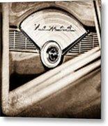 1956 Chevrolet Belair Nomad Dashboard Emblem Metal Print