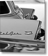 1956 Chevrolet Belair Nomad Rear End Emblem Metal Print