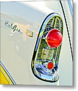 1956 Chevrolet Beliar Nomad Taillight Emblem Metal Print
