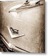 1956 Chevrolet Hood Ornament - Emblem Metal Print