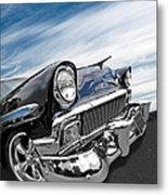 1956 Chevrolet With Blue Skies Metal Print