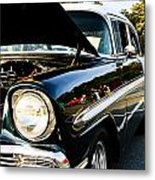 1956 Chevy Bel Air Down The Side Metal Print