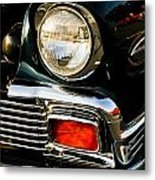 1956 Chevy Bel Air Head Light Metal Print