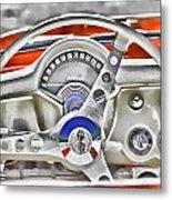 1956 Chevy Corvette Dash Wowc Metal Print