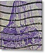 1956 Devils Tower National Monument Stamp Metal Print