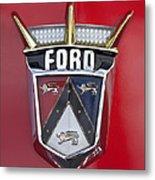 1956 Ford Fairlane Emblem Metal Print