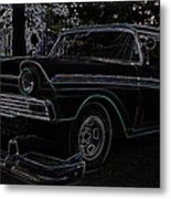 1956 Ford Neon Coupe Metal Print