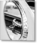 1956 Ford Thunderbird Latch -417bw Metal Print