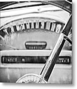 1956 Ford Thunderbird Steering Wheel -260bw Metal Print