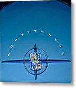 1956 Lincoln Continental Mark II Emblem Metal Print