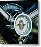 1956 Lincoln Continental Mark II Hess And Eisenhardt Convertible Steering Wheel Emblem Metal Print
