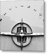 1956 Lincoln Continental Rear Emblem Metal Print