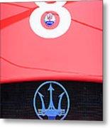 1956 Maserati 150s Grill Emblem - The Beels Racing Team Metal Print