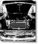1956 Midnight Black Chevy Metal Print