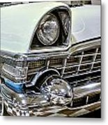1956 Packard Caribbean Grill Metal Print
