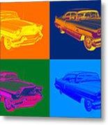 1956 Sedan Deville Cadillac Luxury Car Pop Art Metal Print