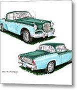 1956 Studebaker Coming And Going Metal Print
