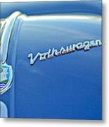 1956 Volkswagen Vw Bug Hood Emblem Metal Print