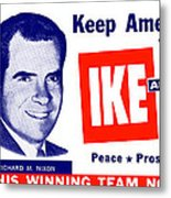 1956 Vote Ike And Dick Metal Print by Historic Image
