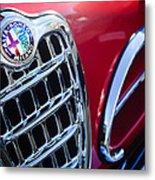 1957 Alfa-romeo 1900c Super Sprint Grille Emblem Metal Print