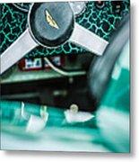 1957 Aston Martin Dbr2 Steering Wheel Emblem -2345c Metal Print