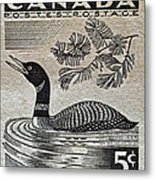 1957 Canada Duck Stamp Metal Print