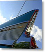 1957 Chevrolet Bel Air Fin Metal Print