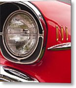 1957 Chevrolet Bel Air Headlight Metal Print
