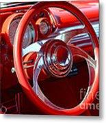 1957 Chevrolet Bel Air Steering Wheel Metal Print