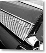 1957 Chevrolet Belair Convertible Taillight Emblem Metal Print