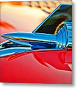 1957 Chevrolet Belair Hood Ornament Metal Print by Jill Reger