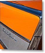 1957 Chevrolet Belair Rear Emblem -037c Metal Print