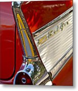 1957 Chevrolet Belair Taillight Metal Print