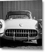 1957 Chevrolet Corvette -0010bw Metal Print