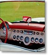1957 Chevrolet Corvette Roadster Dashboard Metal Print