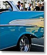 1957 Chevy Bel Air Blue Rear Quarter Metal Print