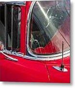1957 Chevy Bel Air Chrome Metal Print