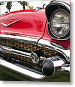 1957 Chevy Bel Air Front End Metal Print