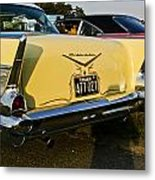 1957 Chevy Bel Air Yellow From Rear Quater Metal Print