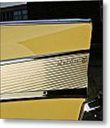 1957 Chevy Bel Air Yellow Rear Quarter Panel Metal Print