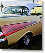 1957 Chevy Bel Air Yellow Side View  Metal Print