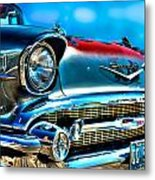1957 Chevy Grille Metal Print